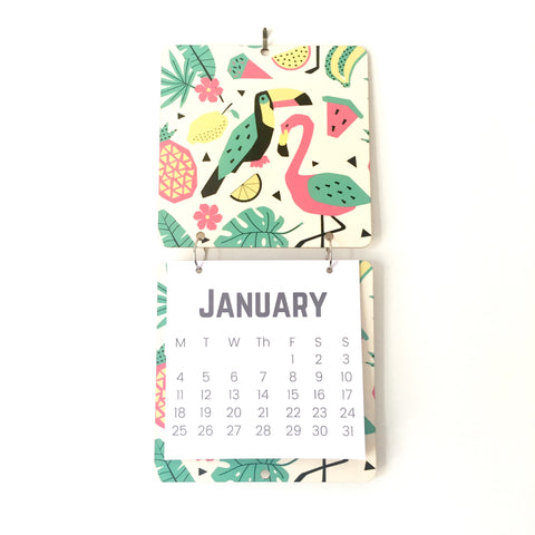 tropical flamingo - wall calendar
