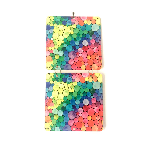 rainbow dots - wall calendar