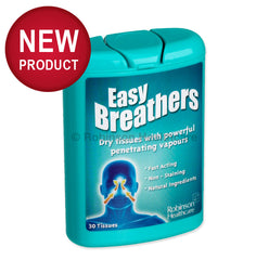 Easy Breathers - Dry tissues with powerful penetrating vapors