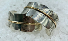 Load image into Gallery viewer, Silver Hawk Feather Cuff