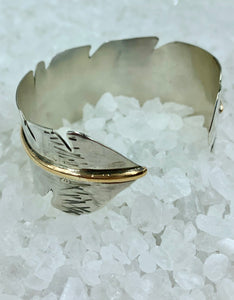 Silver Hawk Feather Cuff