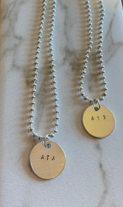 Custom Silver Necklace ~ 100% donated to SAFE Alliance and West Texas Food Bank