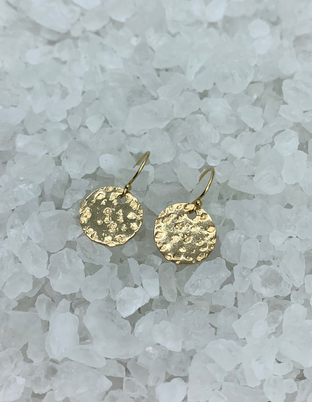 gold disc earrings, leopard pattern earrings, animal inspired earrings, hand hammered earrings, hnadmade earrings, handmade gold earrings, gold-fill disc earrings, Baskin earring, Jungle chic