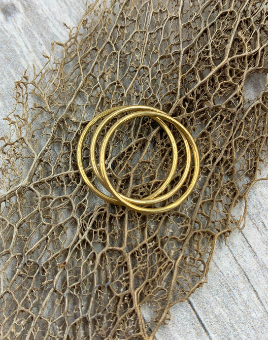 Thin Gold Filled Stacking Rings Size 7