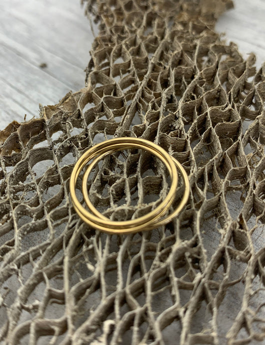 Thin Gold Filled Stacking Rings Size 6