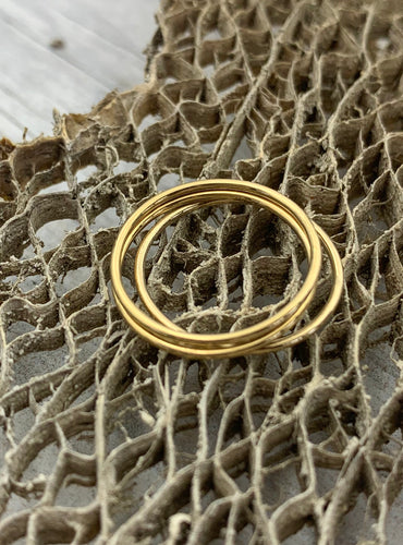 Thin Gold Filled Stacking Rings Size 8