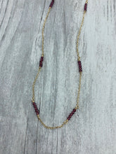 Load image into Gallery viewer, Garnet Beaded Chain Necklace