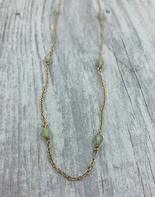 New Jade Beaded Chain Necklace