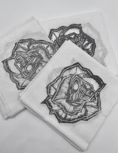 Load image into Gallery viewer, Rose Block Print Bandana in Grey
