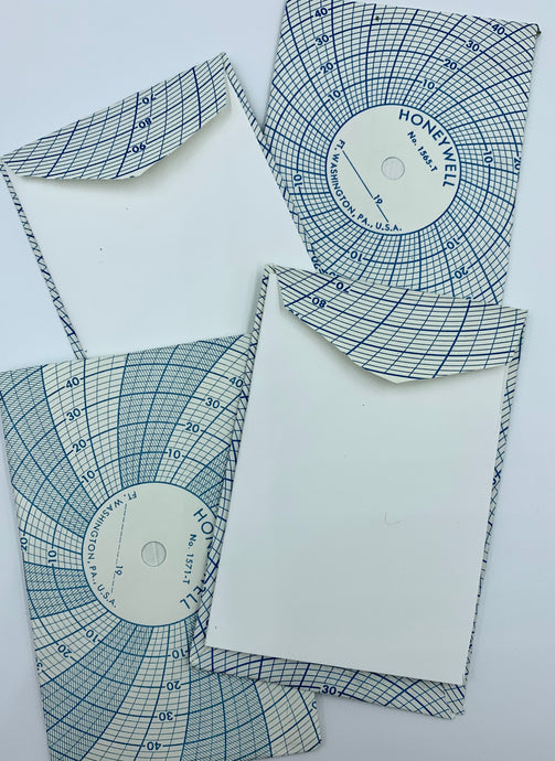 Circular Chart Envelopes with Blank Card Set of 4