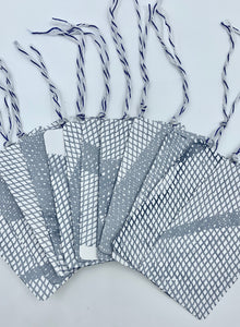 Fishnet Print Gift Tag Set of 12