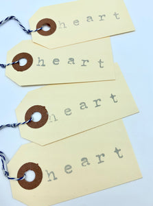 Heart Manilla Gift Tag Set of 12