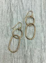 Load image into Gallery viewer, Gold Mixed Link Earrings