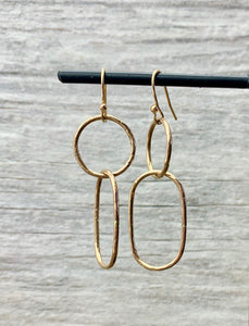 Gold Mixed Link Earrings