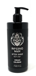 Inferno Man After Shave Silver Cream Cologne Invisible 400 ml