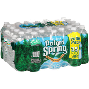 POLAND SPRING 100% NATURAL SPRING WATER 16.9 Oz. BOTTLES 35 PACK