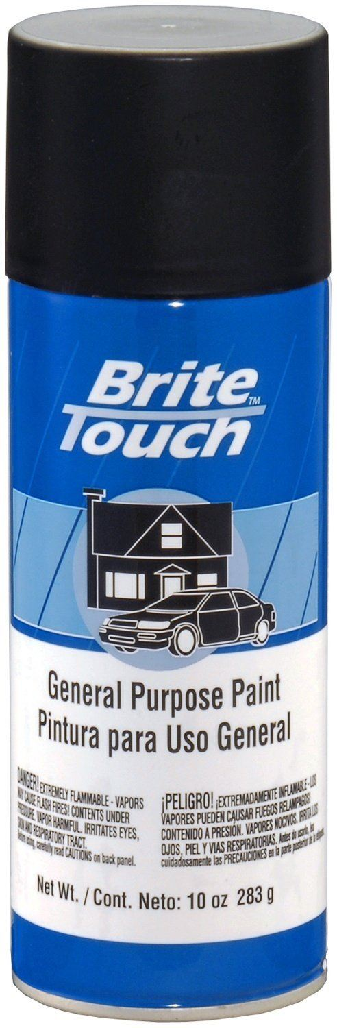 SPRAY PAINT BRITE TOUCH BT43 FLAT BLACK 10 OZ. 6/1 CASE