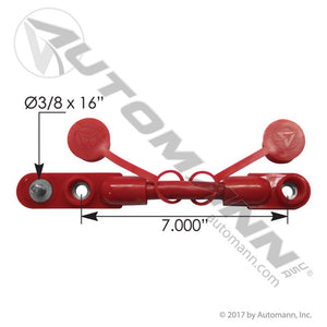 178.2020RD Cable Overnolded Harness 2/0 7in Red