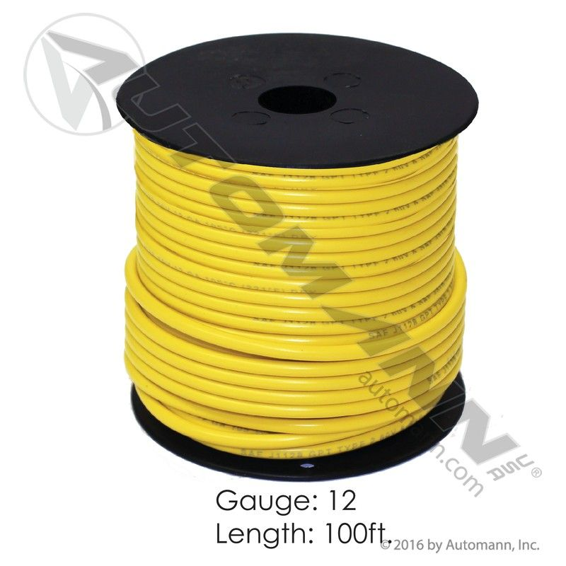 178.2112YW WIRE PRIMARY 12 GA 100FT YELLOW