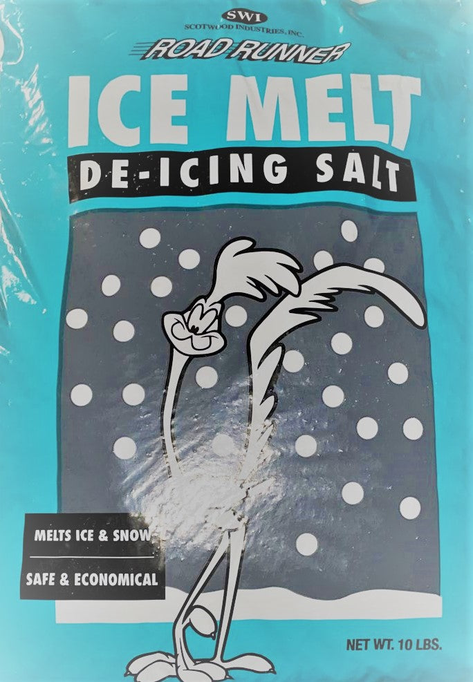 ICE MELT ROAD RUNNER DE-ICING SALT 10 LBS