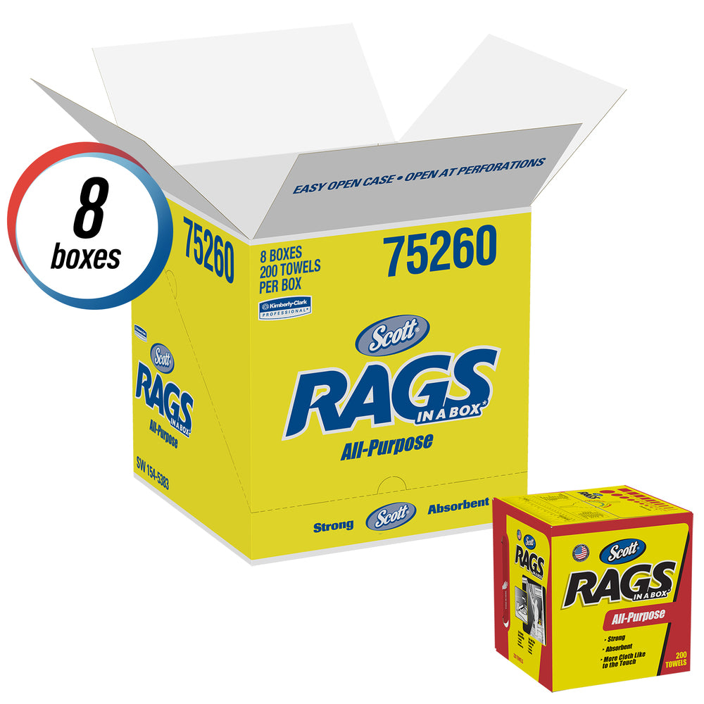 SCOTT RAGS ALL-PURPOSE PACK OF 8 boxes
