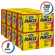 Load image into Gallery viewer, SCOTT RAGS ALL-PURPOSE PACK OF 8 boxes