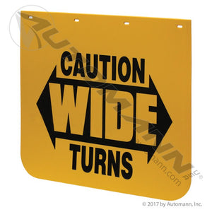 562.142424YC Mud Flap Yellow Caution Poly