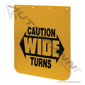 562.142430YC MUD FLAP YELLOW CAUTION POLY