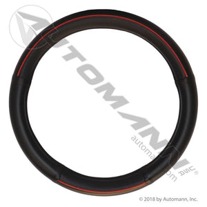 562.99009SWC-R STEERING WHEEL COVER BLACK/RED