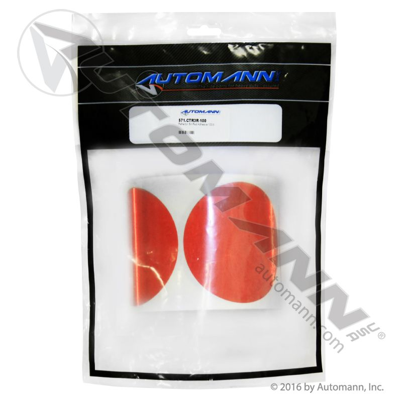 571.CTR3R-100 REFLECTOR 3IN RED ADHESIVE 100CT