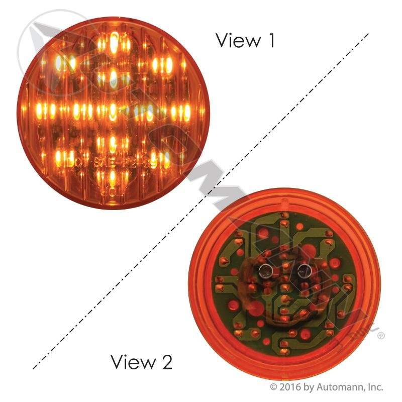 571.LD10A13 MARKER LIGHT LED 2-1/2IN AMBER