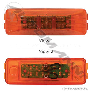 571.LD19A12 MARKER LIGHT LED 1IN X 4IN AMBER