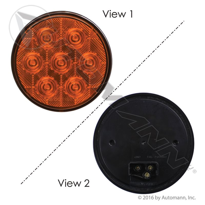 571.LD40A7 F/P/T Light LED 4in Amber