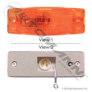 571.LG291A F/P/T LIGHT 6IN RECTANGULAR AMBER