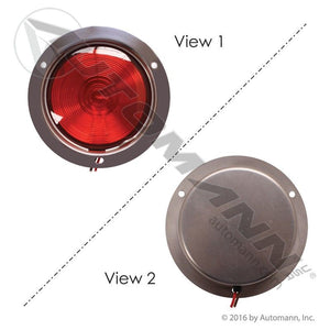 571.LG403R S/T/T LIGHT RECESSED 4IN RED