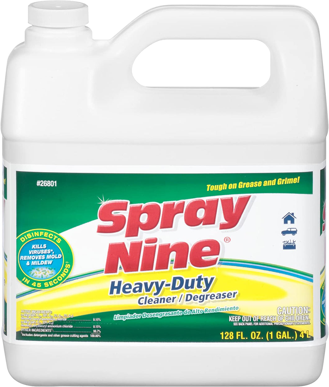 26801 SPRAY NINE HEAVY-DUTY CLEANER / DEGREASER (4/1 GALLON)