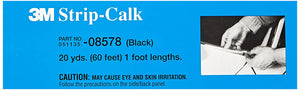 08578 STRIP CALK BLACK FOOT LEANGTHS 60/1 CASE