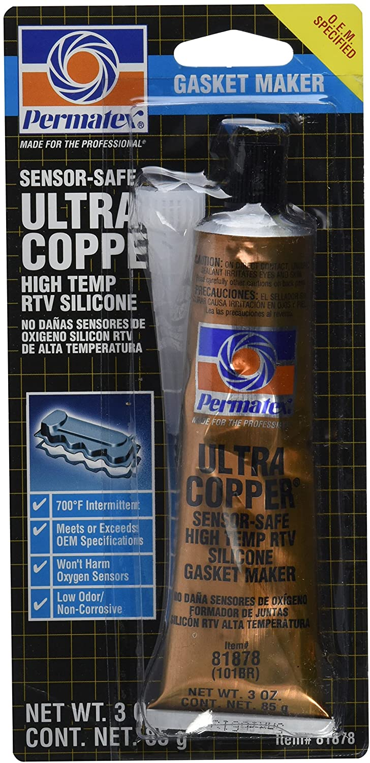 81878 (101BR) COPPER HI TEMP RTV TUBE 3OZ