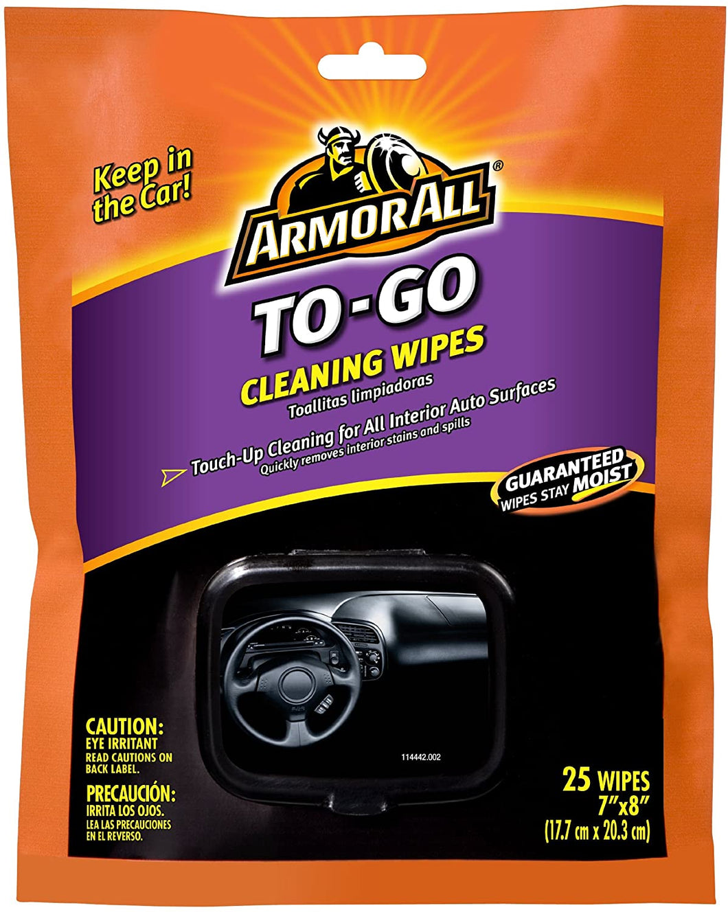 ARM TO GO CLEANING WIPES 6/25