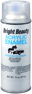 SPRAY PAINT BRIGHT BEAUTY BB392 CRYSTAL CLEAR 11 OZ. 6/1 CASE