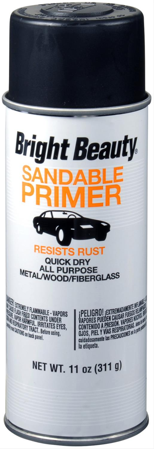 SPRAY PAINT BRIGHT BEAUTY BBP398 BLACK HOT ROD PRIMER 11 OZ. 6/1 CASE