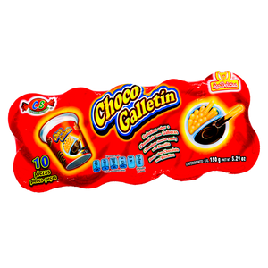 GOLOSINA CHOCO GALLETIN CHOCOLATE 10 PZAS LAS DELICIAS