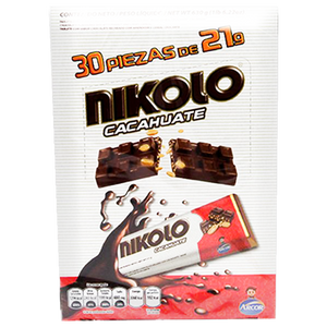 CHOC. NIKOLO CHOCOLATE CACAHUATE 21 GR ARCOR