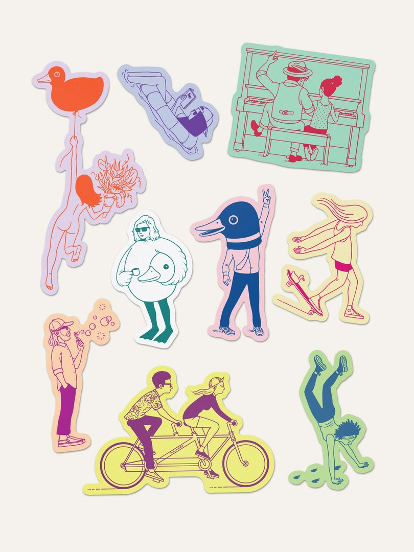 Minor Figures Character Sticker Pack (Extra Pack only)
