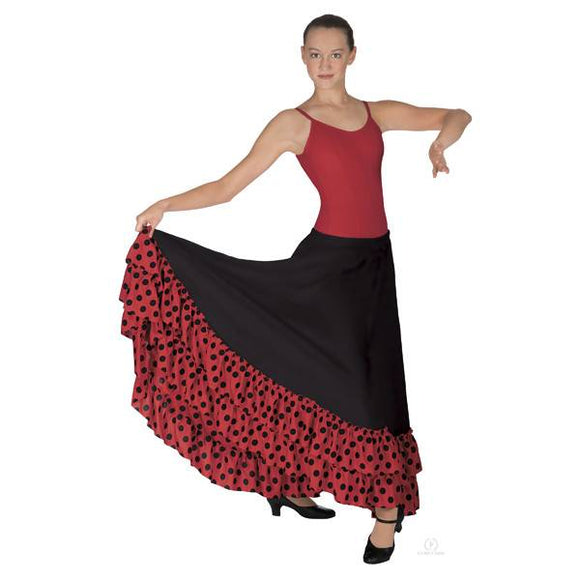 Eurotard Child Dotted Ruffle Flamenco Skirt