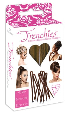 Frenchies Flocked Hair Pins