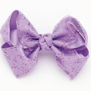 Dasha Grosgrain Glitter Bow
