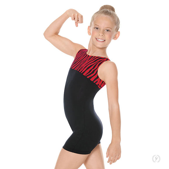 Eurotard Girls Zebra Gymnastics Biketard