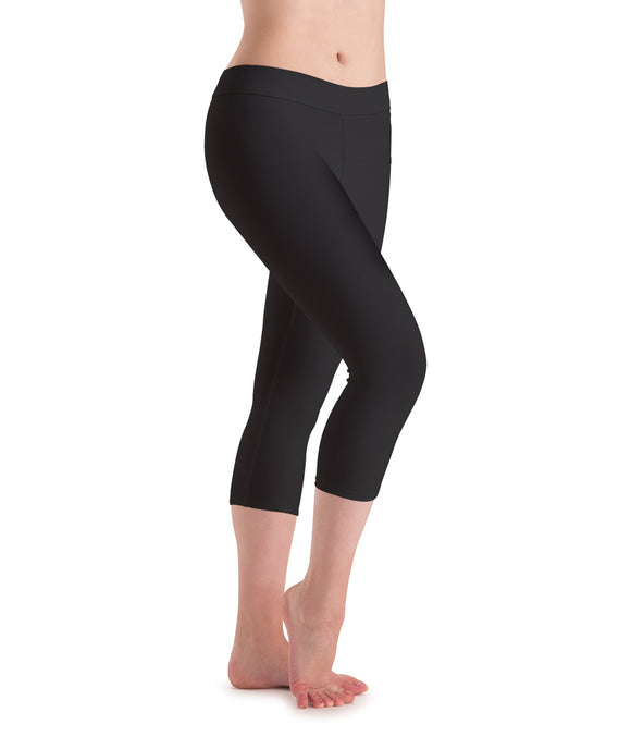Motionwear Adult Flat Waist Capri Leggings