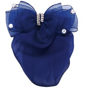 Dasha Sheer Bow with Stones Snood